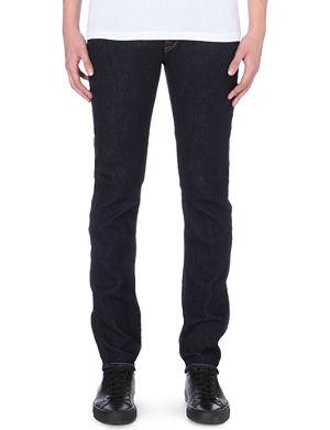 PAUL SMITH JEANS Slim-fit tapered stretch-denim jeams