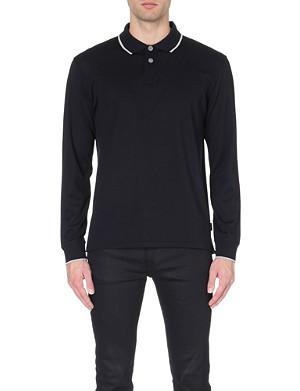 PAUL SMITH JEANS Contrast-tipping cotton-piqué polo shirt