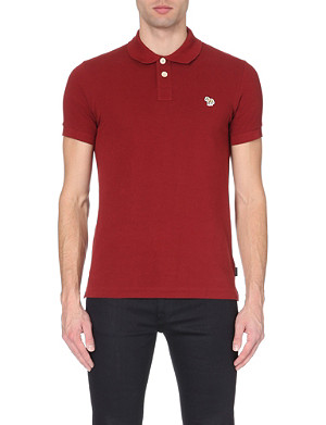 PAUL SMITH JEANS Zebra-logo cotton polo shirt