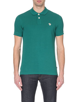 PAUL SMITH JEANS Zebra-logo cotton-piqué polo shirt