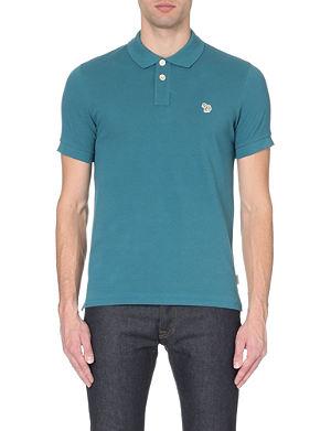 PAUL SMITH JEANS Zebra-logo cotton-piqué polo shirt