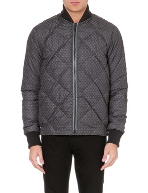 PAUL SMITH JEANS Quilted printed bomber