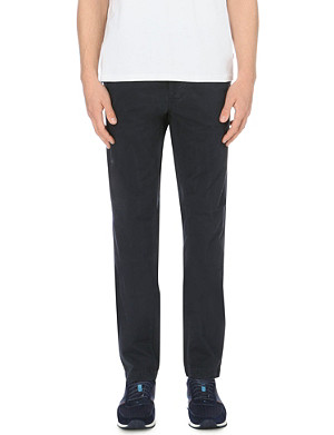 PAUL SMITH JEANS Tapered cotton-twill chinos