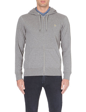 PAUL SMITH JEANS Branded zip-through hoody