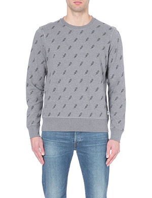 PAUL SMITH JEANS Lightning bolt cotton sweatshirt