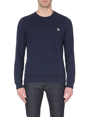 PAUL SMITH JEANS Zebra-logo cotton-jersey sweatshirt