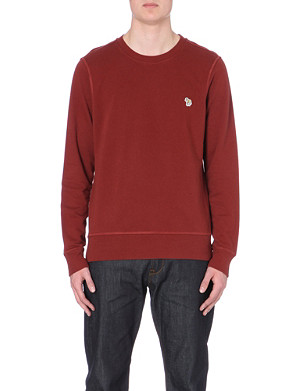 PAUL SMITH JEANS Zebra logo cotton sweatshirt