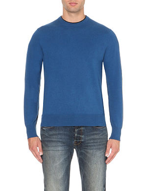 PAUL SMITH JEANS Contrast-trim knitted jumper