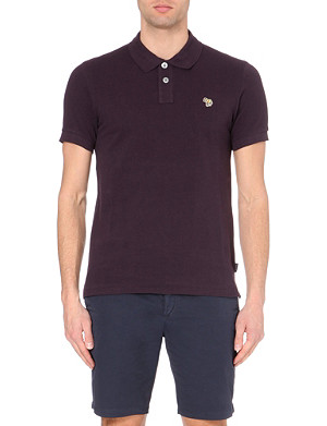 PAUL SMITH JEANS Zebra-embroidered slim-fit polo shirt