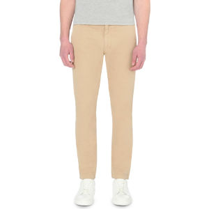 Regular-fit cotton-blend chinos