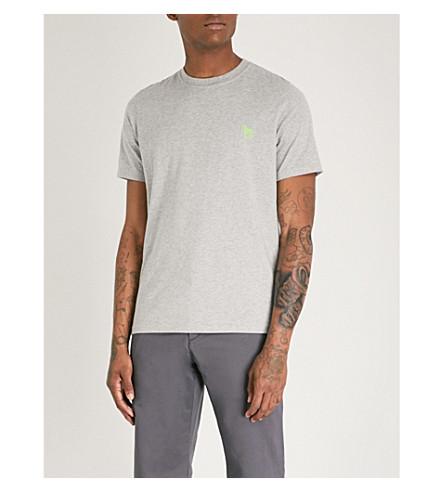 de PS BY cebra PAUL de algodón jersey Camiseta bordada SMITH de Gris CgzqwCBx