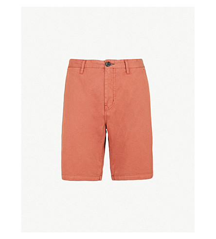 PS BY PAUL SMITH Regular-fit stretch-cotton shorts (Rust