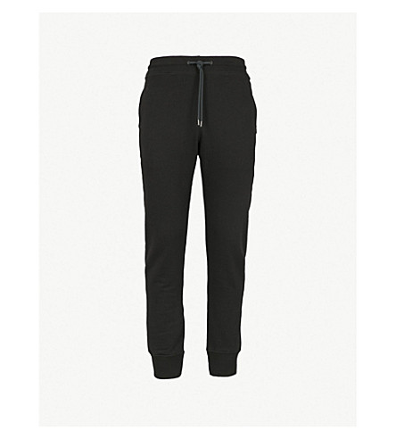 PS BY PAUL SMITH Relaxed-fit cotton jogging bottoms (Black