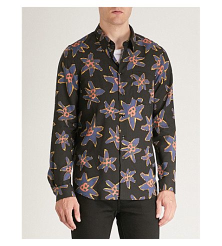 woven BY PAUL multi Floral fit tailored shirt Black PS SMITH print SwqdS0B