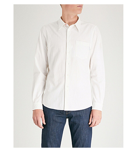 PS BY PAUL SMITH Tailored-fit cotton shirt (Off white