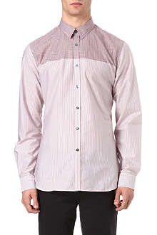 PS BY PAUL SMITH Gingham panelled shirt
