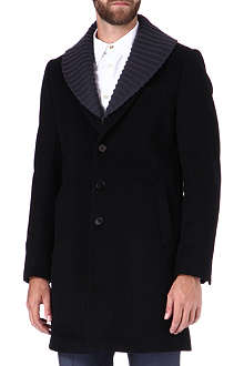 PS BY PAUL SMITH Knitted collar coat