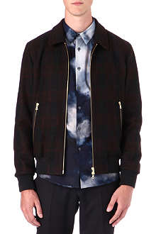PS BY PAUL SMITH Checked wool bomber jacket