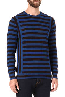 PS BY PAUL SMITH Block stripe merino wool jumper
