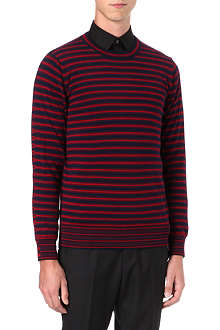 PS BY PAUL SMITH Multistripe crew-neck jumper