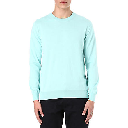 PS BY PAUL SMITH Cotton crew-neck knitted jumper (Jade