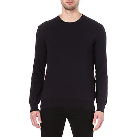 PS BY PAUL SMITH Contrast-seam jumper (Navy