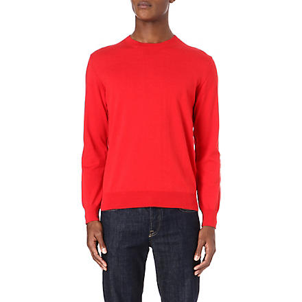 PS BY PAUL SMITH Contrast-seam jumper (Red