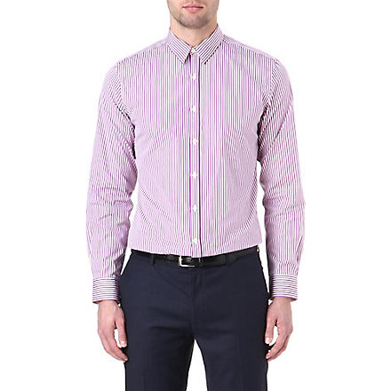 PS BY PAUL SMITH Slim-fit candy stripe shirt (Mauve