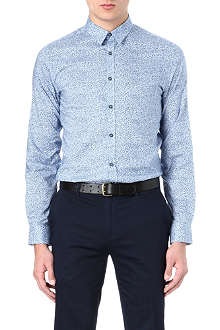 PS BY PAUL SMITH Slim-fit leaf print shirt