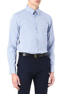 PS BY PAUL SMITH Gingham spot split-collar shirt