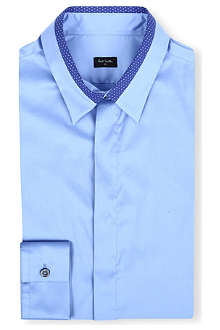 PS BY PAUL SMITH Slim spot-trimmed collar shirt