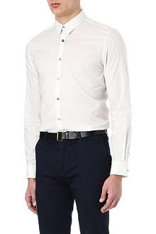 PS BY PAUL SMITH Tiny polka dot contrast shirt