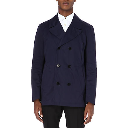 PS BY PAUL SMITH Cotton-blend pea jacket (Navy