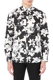 PS BY PAUL SMITH Digital flower diamond shirt