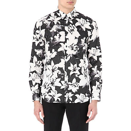 PS BY PAUL SMITH Digital flower diamond shirt (Black