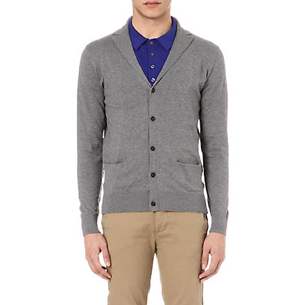 PS BY PAUL SMITH Notch lapel cardigan (Grey