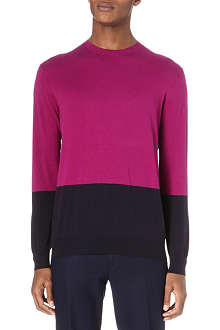 PS BY PAUL SMITH Colour block knit jumper