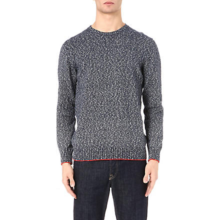 PS BY PAUL SMITH Flecked knit jumper (Blue