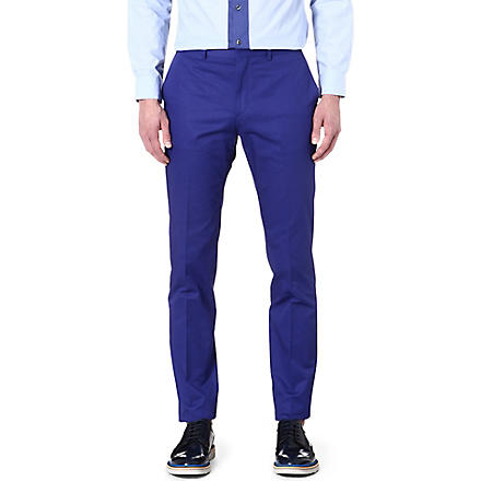 PS BY PAUL SMITH Slim-fit cotton chinos (Blue