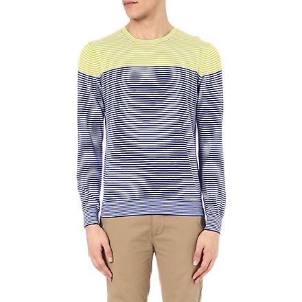 PS BY PAUL SMITH Colourblock stripe jumper (Purple