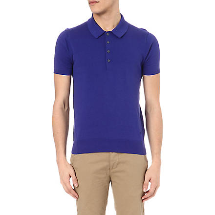 PS BY PAUL SMITH Knitted polo shirt (Blue