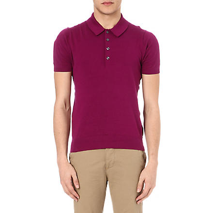 PS BY PAUL SMITH Knitted polo shirt (Pink