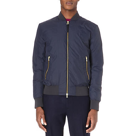PS BY PAUL SMITH Down-filled bomber jacket (Navy