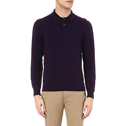 PS BY PAUL SMITH Knitted polo shirt (Navy