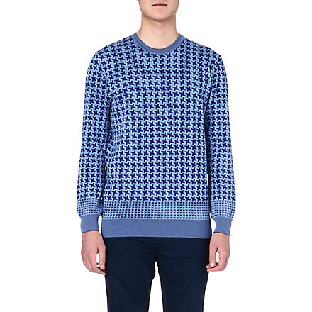 PS BY PAUL SMITH Giant houndstooth jumper (Blue