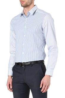PS BY PAUL SMITH Varied stripe panel shirt