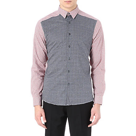 PS BY PAUL SMITH Geometric panelled shirt (Red