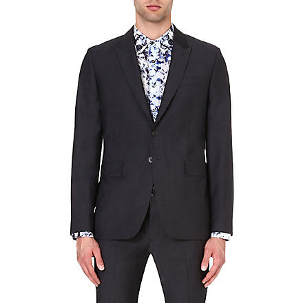 PS BY PAUL SMITH Wool-mohair single-breasted blazer (Grey