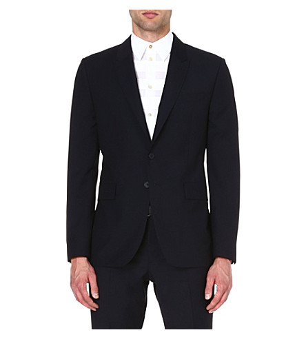 PS BY PAUL SMITH Wool-mohair single-breasted blazer (Navy