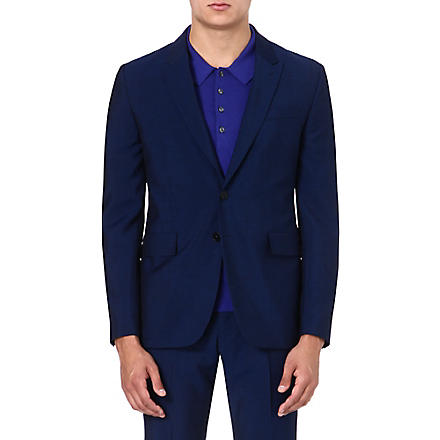PS BY PAUL SMITH Slim-fit wool and mohair-blend blazer (Indigo